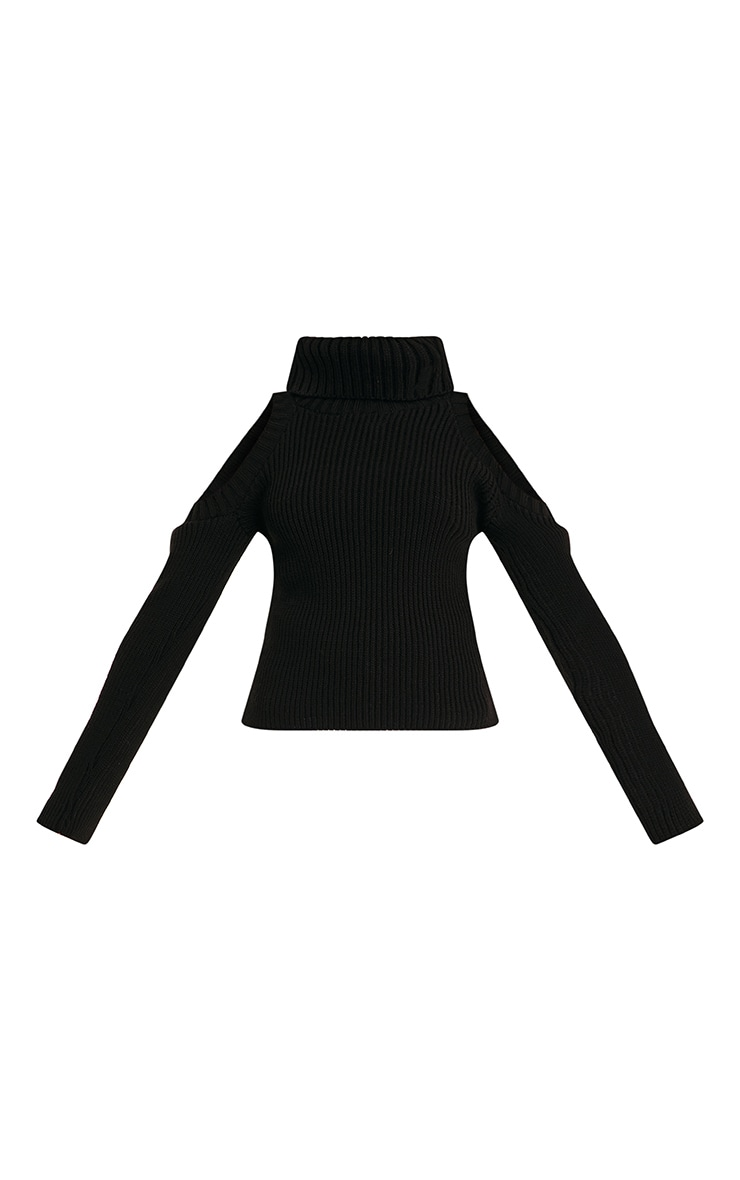 Piper Black Cut Out Shoulder Jumper 3