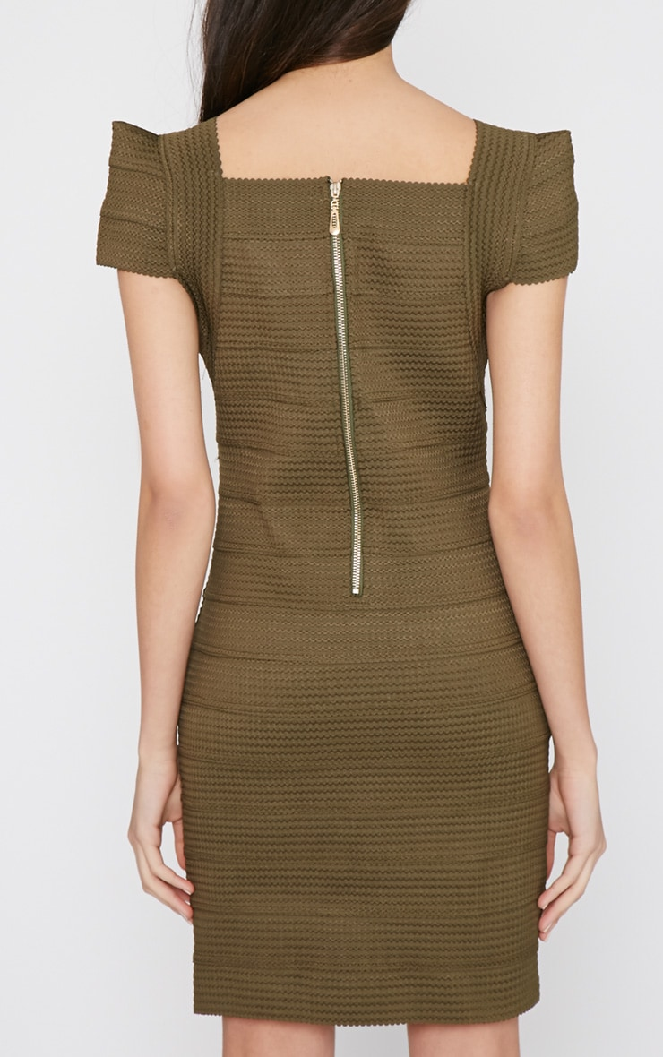 Taura Khaki Bandage Dress 2