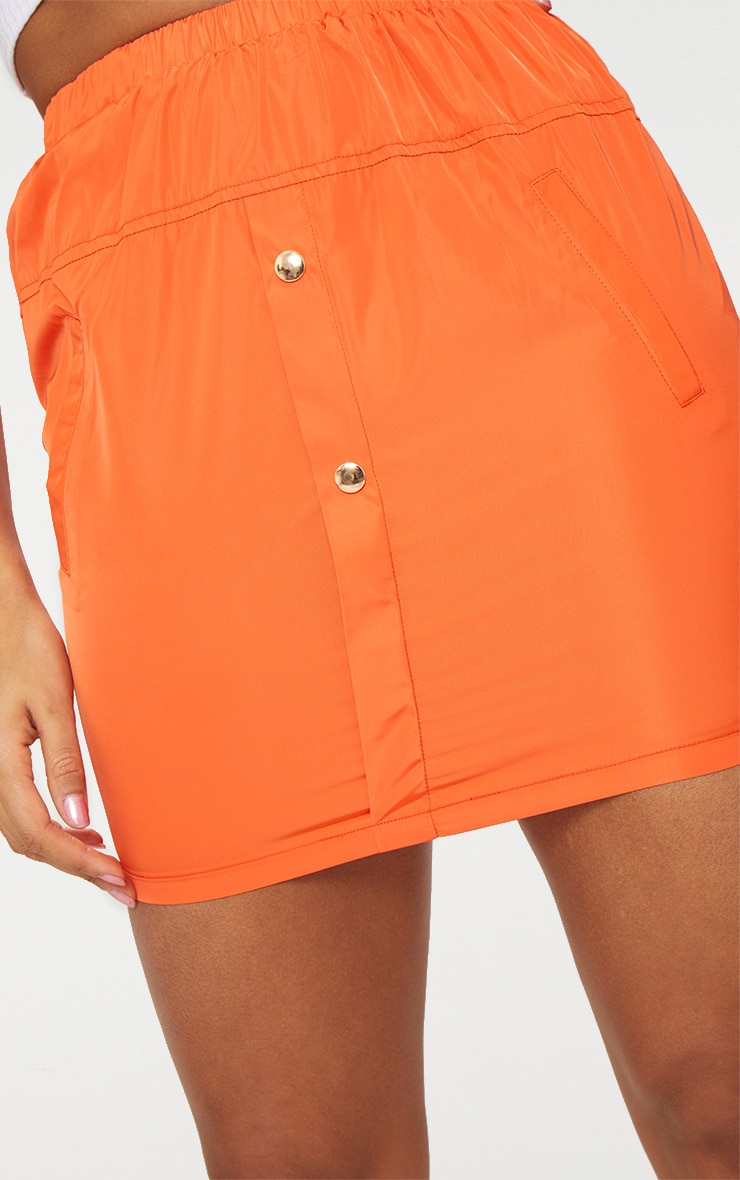 Orange Shell Suit Mini Skirt 6
