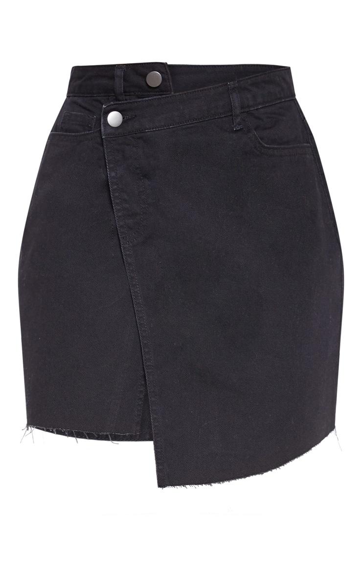 Jupe en jean noir asymétrique 3