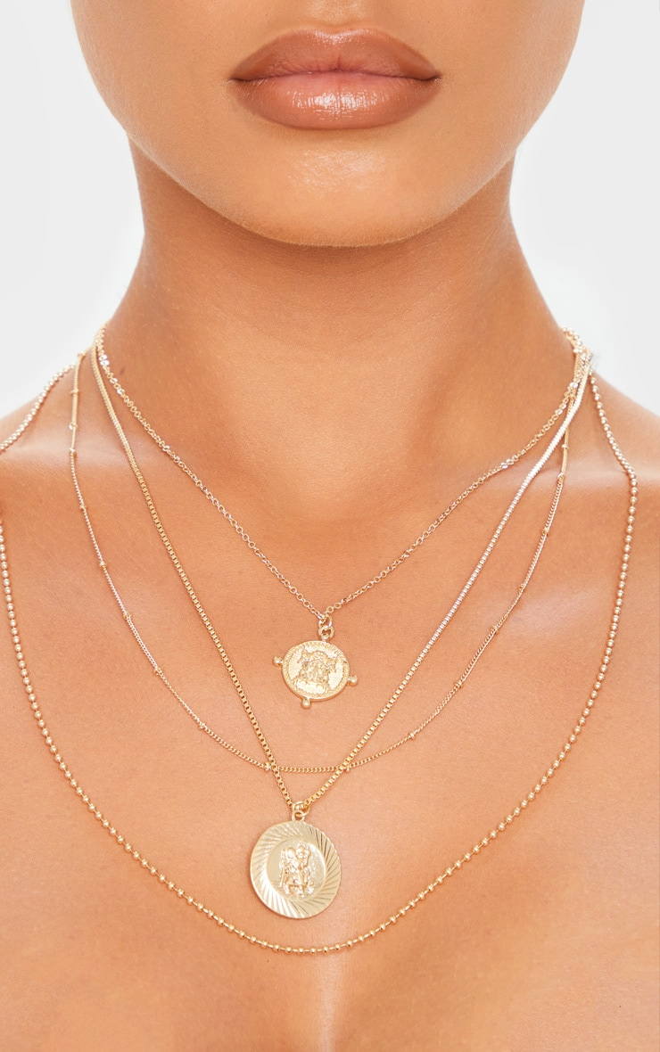Gold Multi Layer Assorted Necklace 2