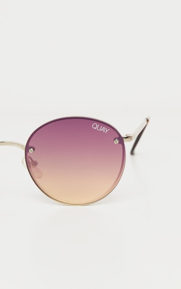 QUAY AUSTRALIA Multi Gradient Round Farrah Sunglasses 3