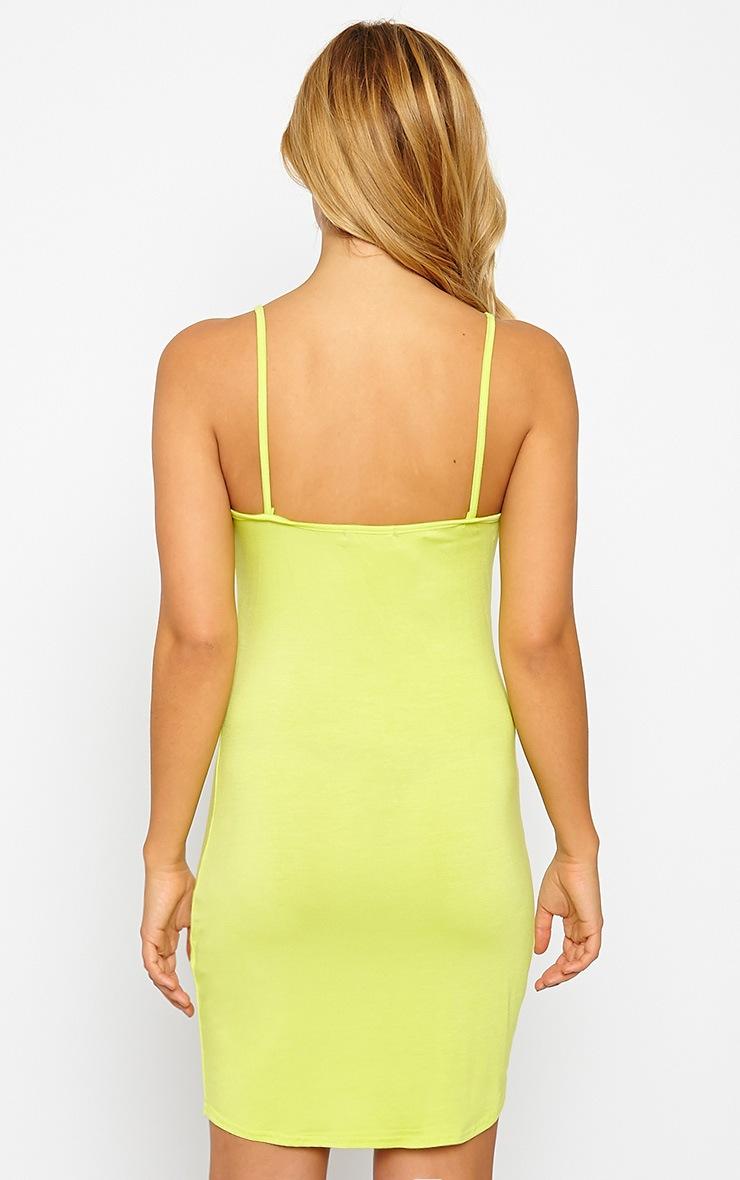 Basic Lime Jersey Mini Dress 2