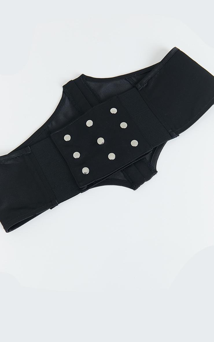 Black Satin Corset Belt 2