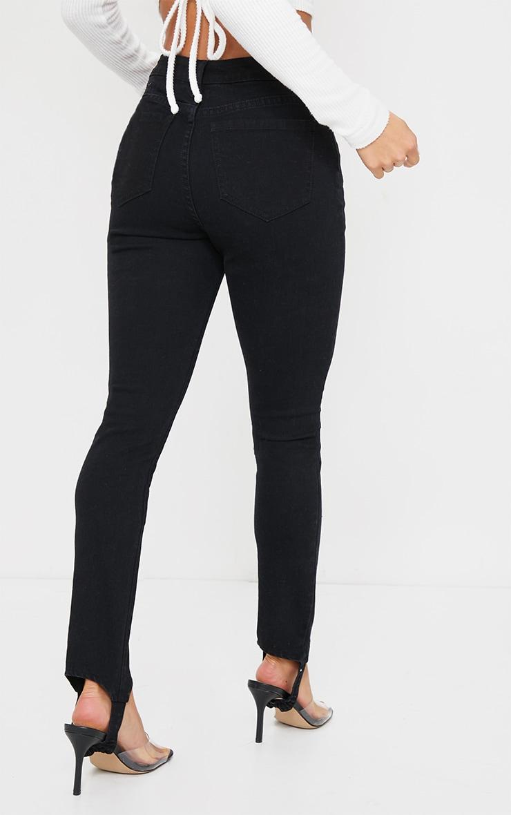 Petite Black Stirrup Stretch Skinny Jeans 3
