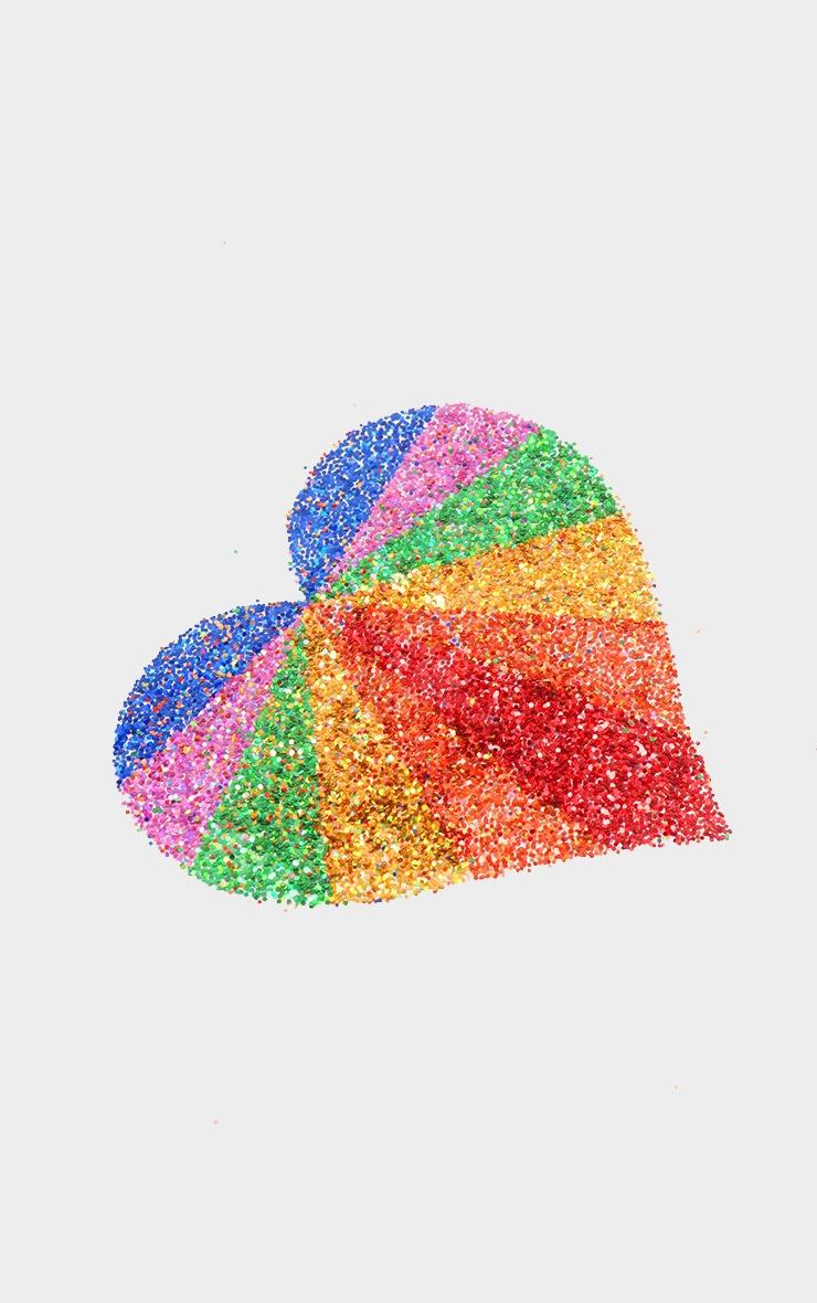SHRINE Rainbow Glitter Chest Sticker 2