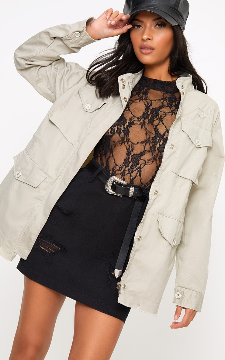 Aashia Stone Distressed Utility Jacket 1