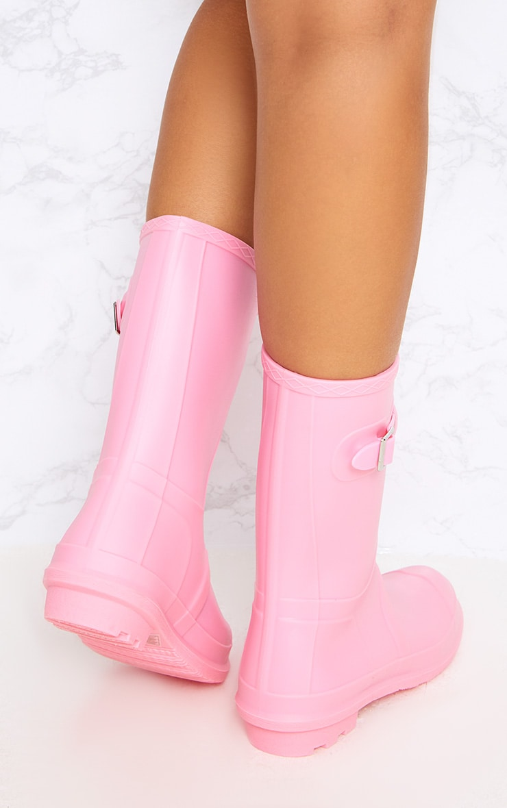 Baby Pink Short Wellies 4