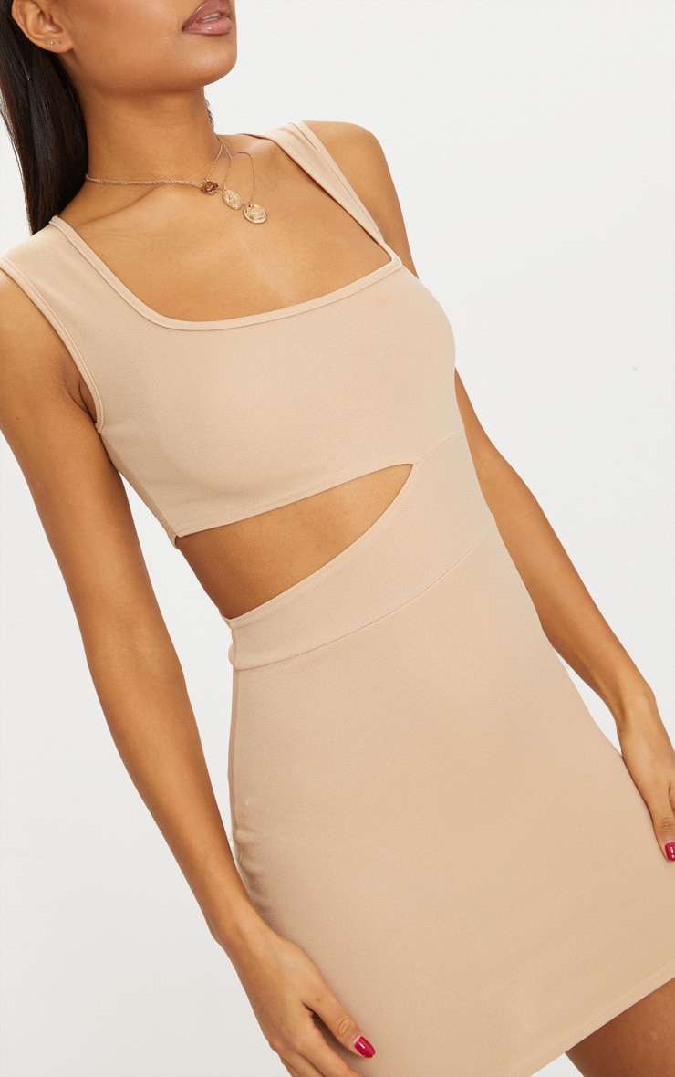 Stone Square Neck Cut Out Bodycon Dress 5