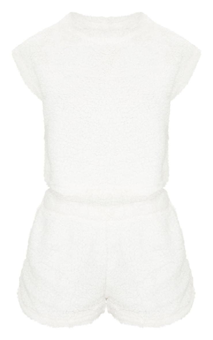 Cream Teddy Borg Short Sleeve PJ Set 5