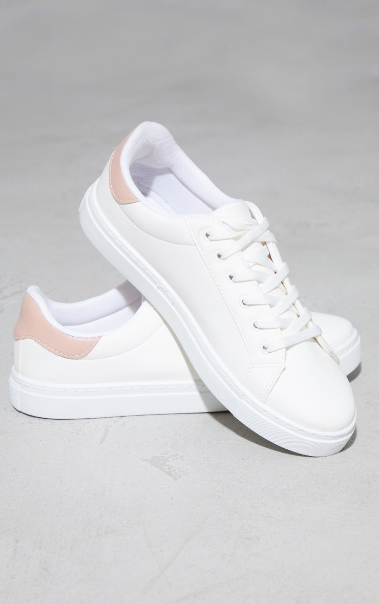 Pink Lace Up Panel Trainers 3