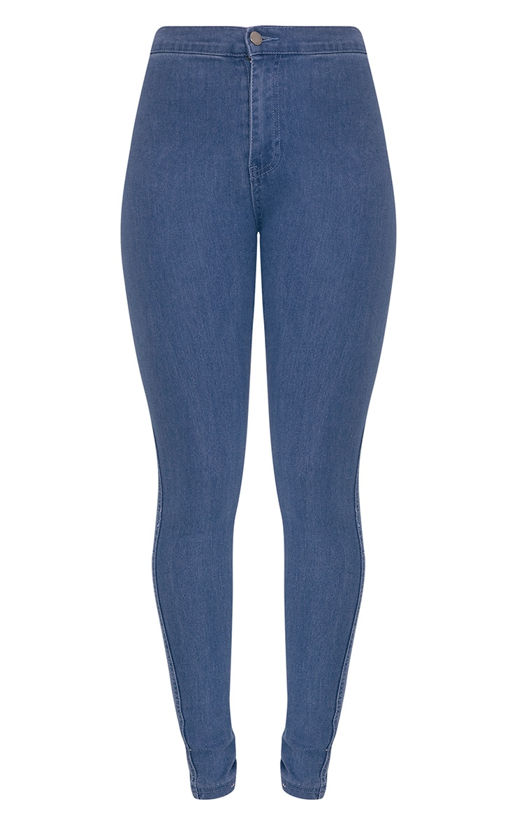 Este Dark Blue 2 Pocket High Waisted Jean 3