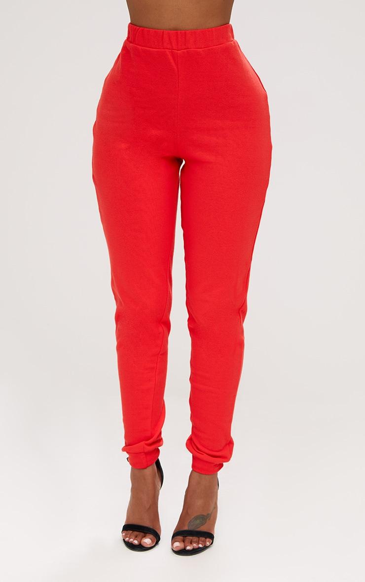 Shape Red Elastic Bottom Joggers  2