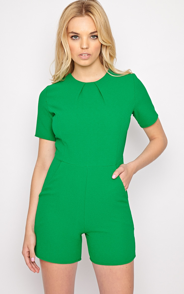 Isabelle Green Playsuit 1