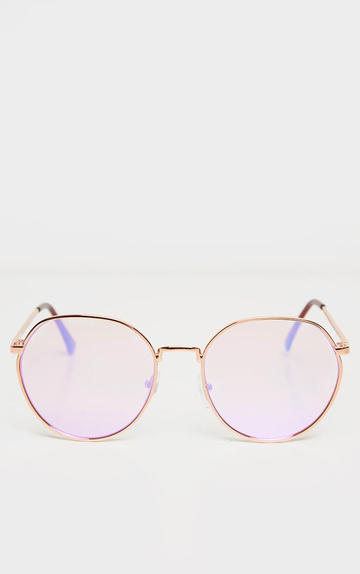 Pink Revo Round Sunglasses 2