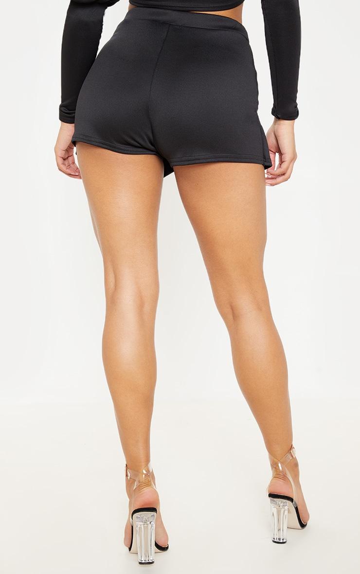 Emy jupe-short noire en néoprène 4