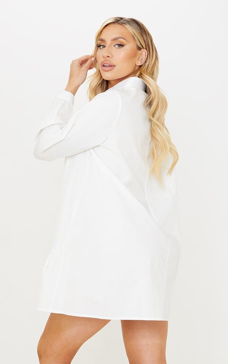 Maternity White Oversized Long Sleeve Smock Dress 2