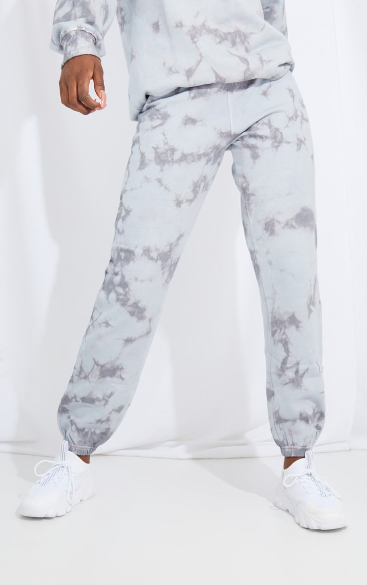 Tall Grey Oversized Tie Dye Joggers 2