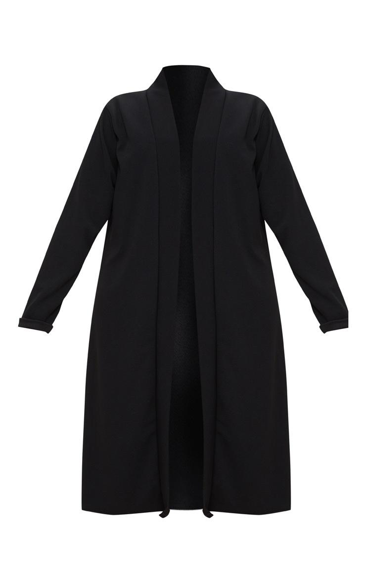 PLT Plus- Veste longue en crêpe noir 3