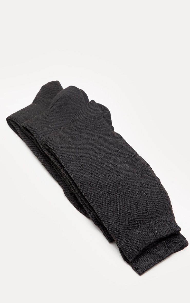 Black Plain Socks 3 Pack 3