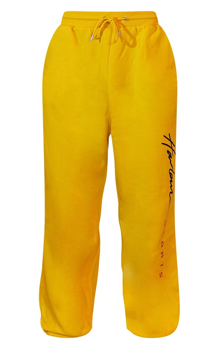 Yellow Unisex Printed Joggers 6