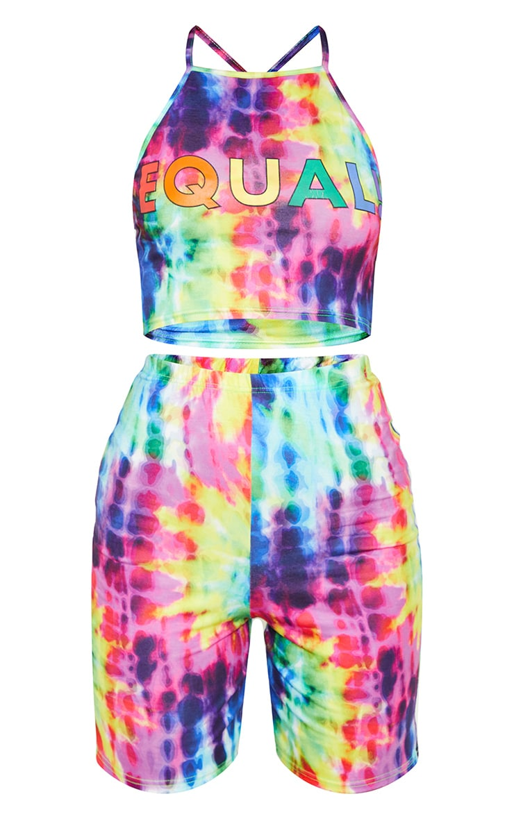 Multi Tie Dye Crop and Short Co-ord 4