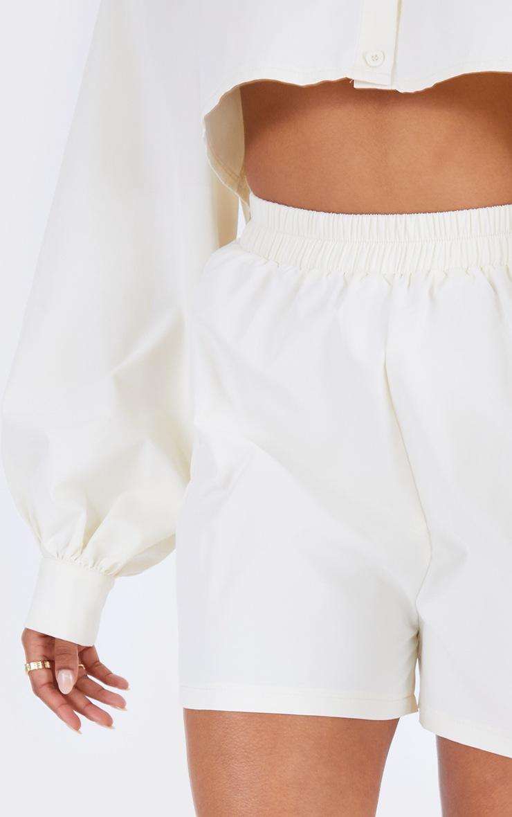 Cream Woven A Line Shorts 5