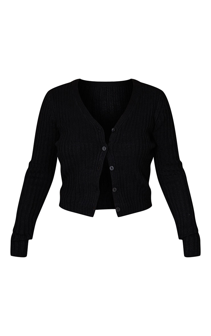 Black Button Front Cardigan 5