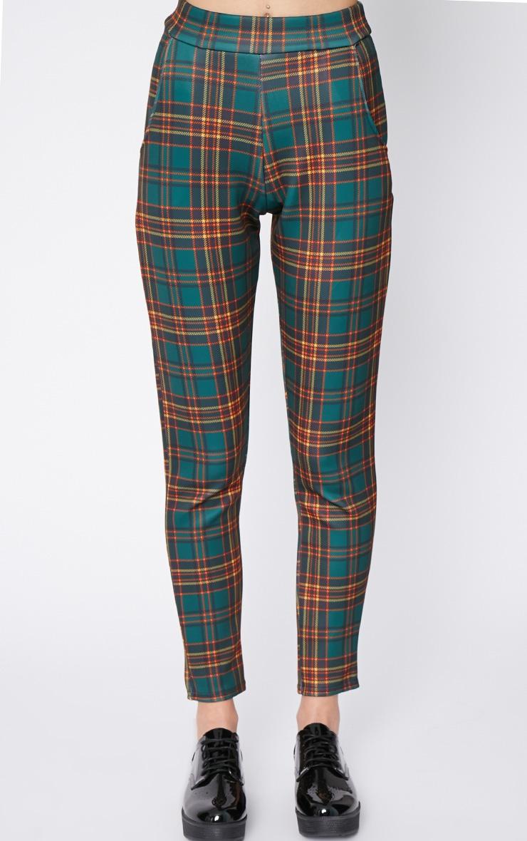 Maia Green Tartan Trouser 2
