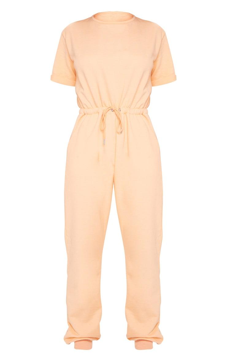 Peach Short Sleeve Sweat Jumpsuit 5