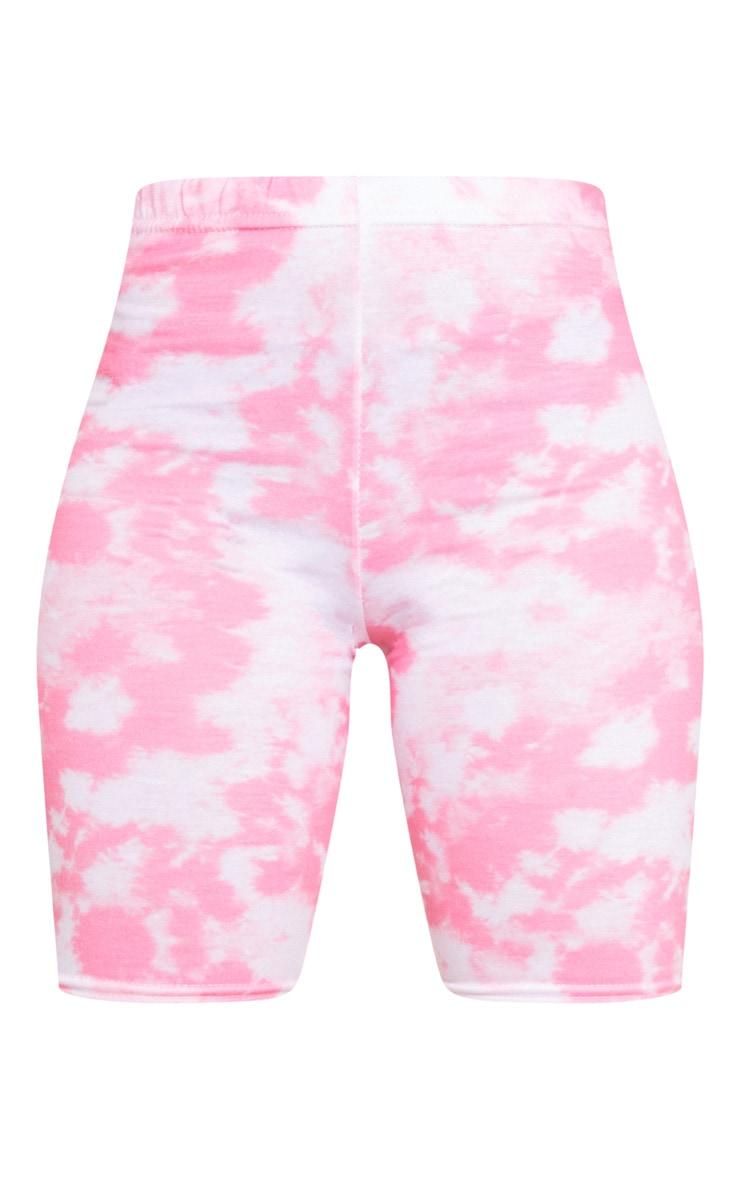 Basic Pink Tie Dye Bike Shorts 5