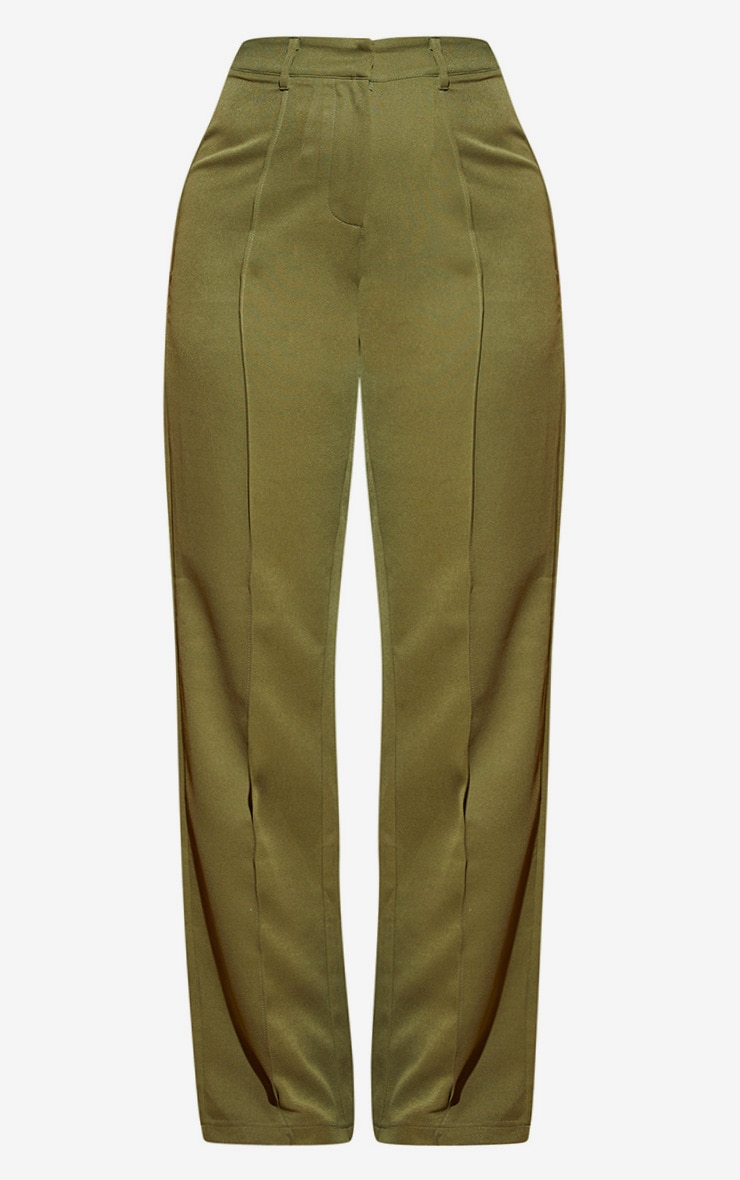 Plus Khaki Wide Leg Pants 4