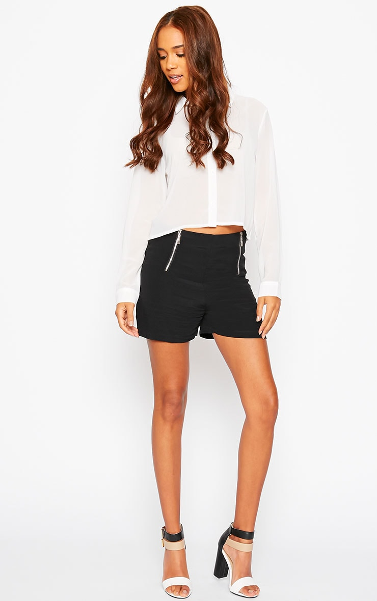 Mikkel Black Zip Front Shorts 6