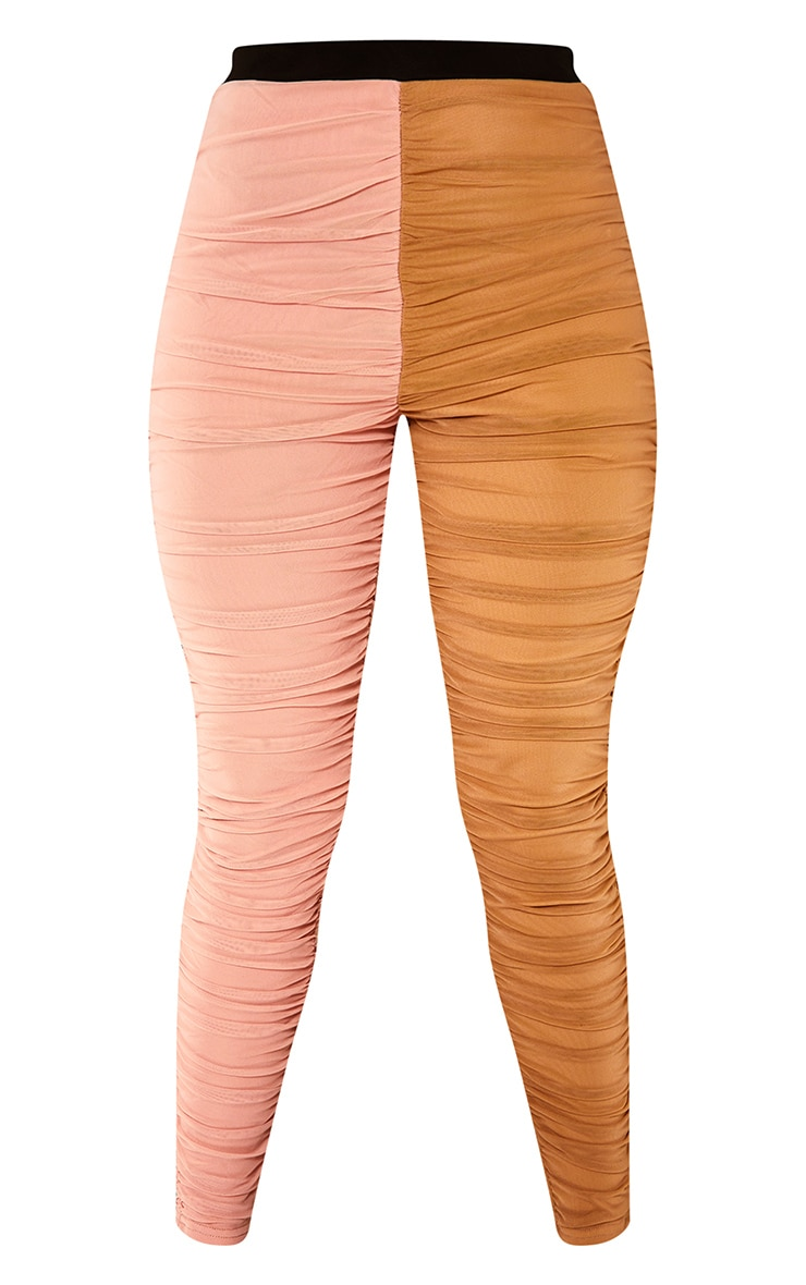 Nude Mesh Panel Leggings 6