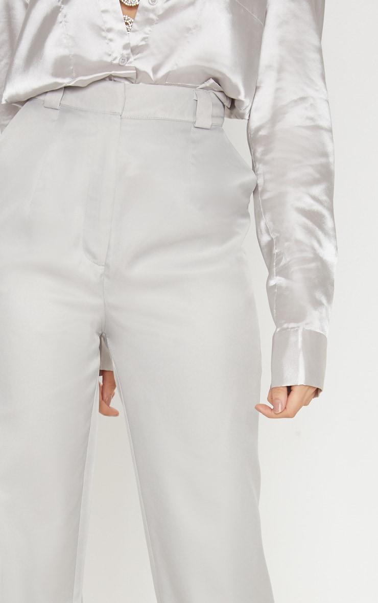 Light Grey Straight Leg Woven Trouser 5