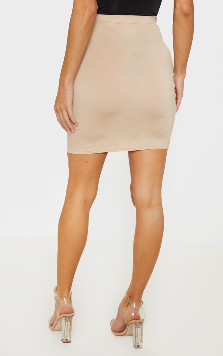 Stone Jersey Double Lace Up Detail Mini Skirt 4