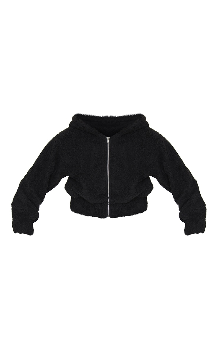 Black Borg Hooded Zip Through Jacket 5