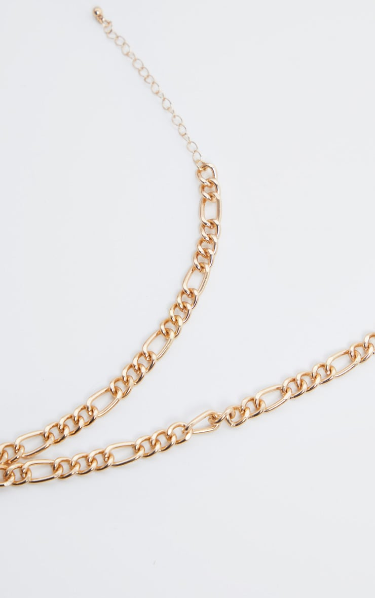 Gold Geo Resin Charm Chunky Chain Necklace 4