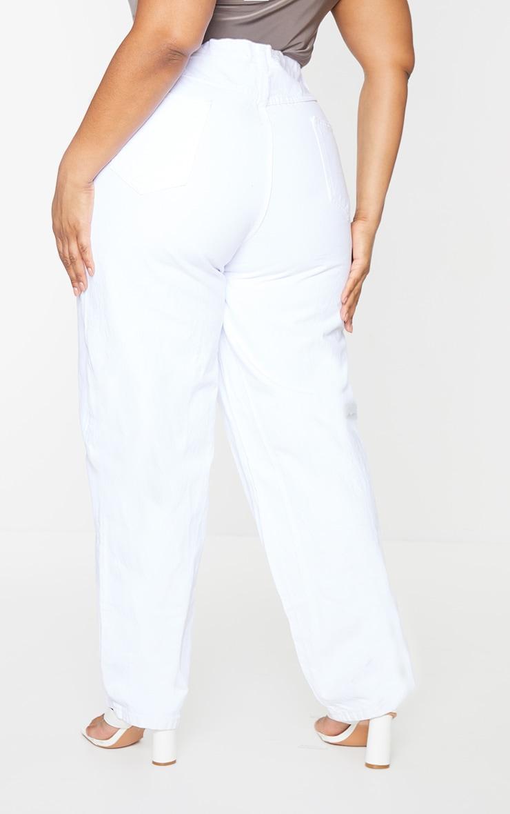 Plus Ecru Seam Detail Jeans 3