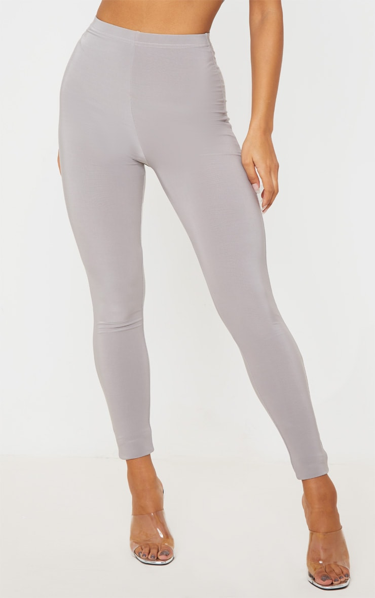 Grey Slinky High Waisted Legging 2