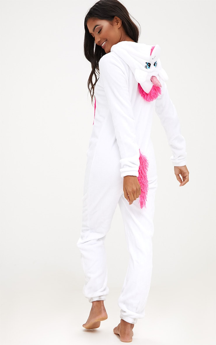 White Unicorn Onesie 2