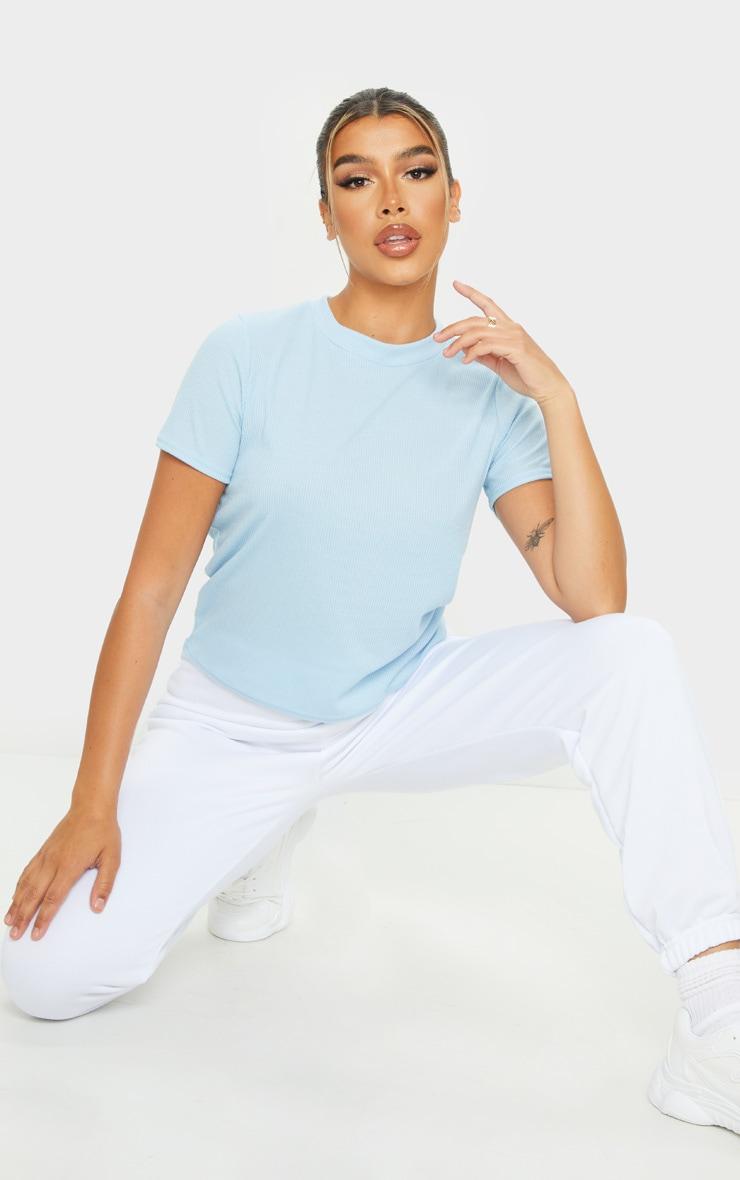 Baby Blue Soft Rib T Shirt 3