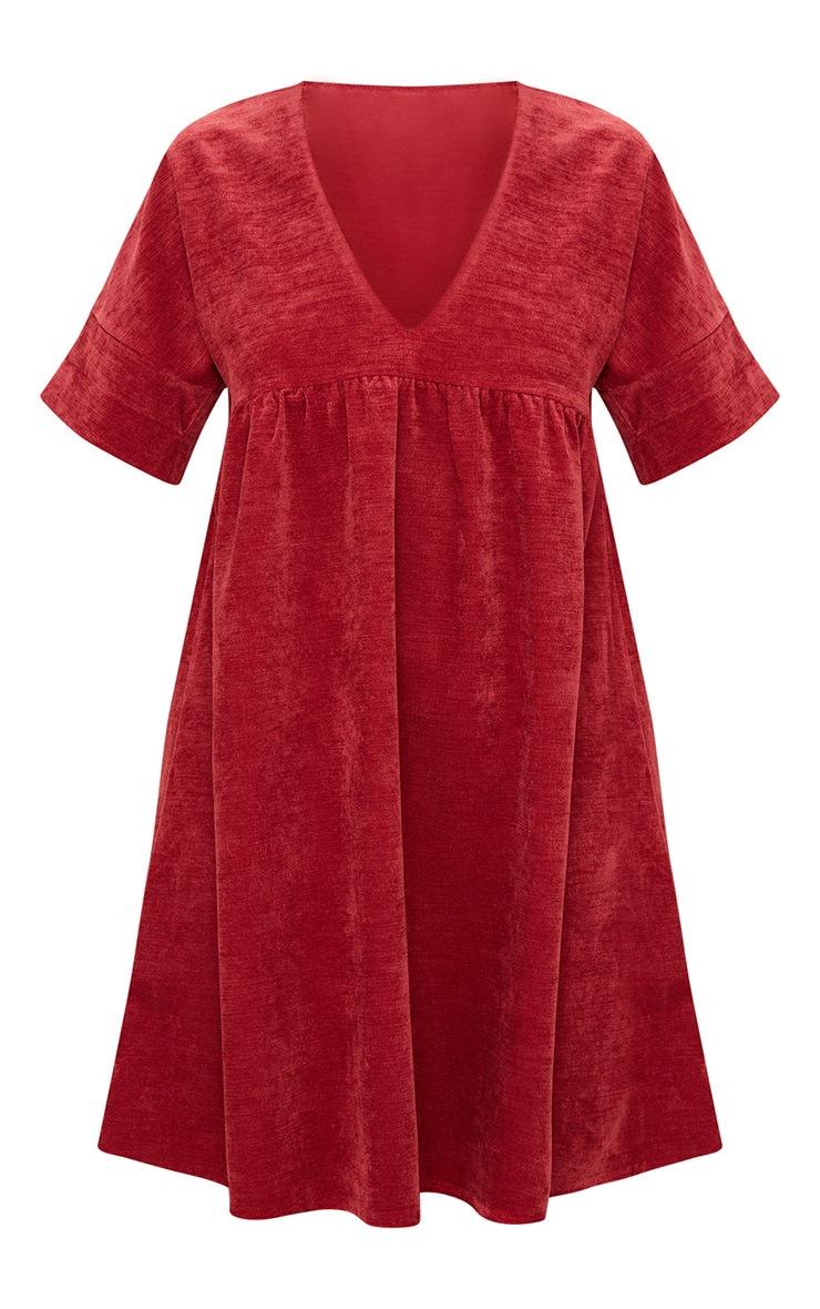 Red Cord Smock Dress 3