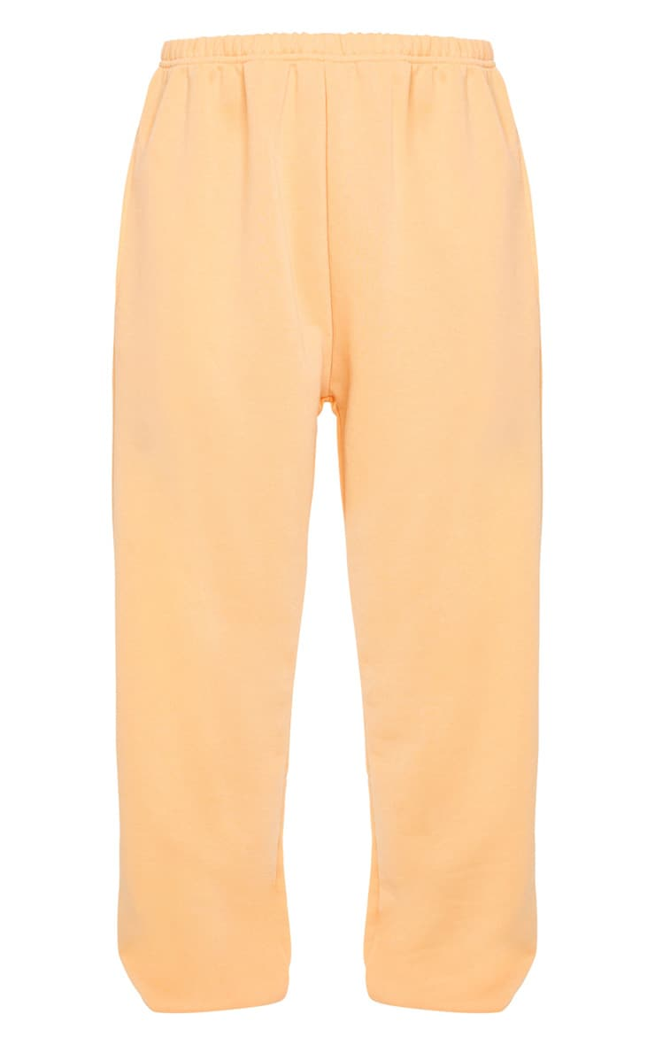 Peach Basic Cuffed Hem Joggers 5