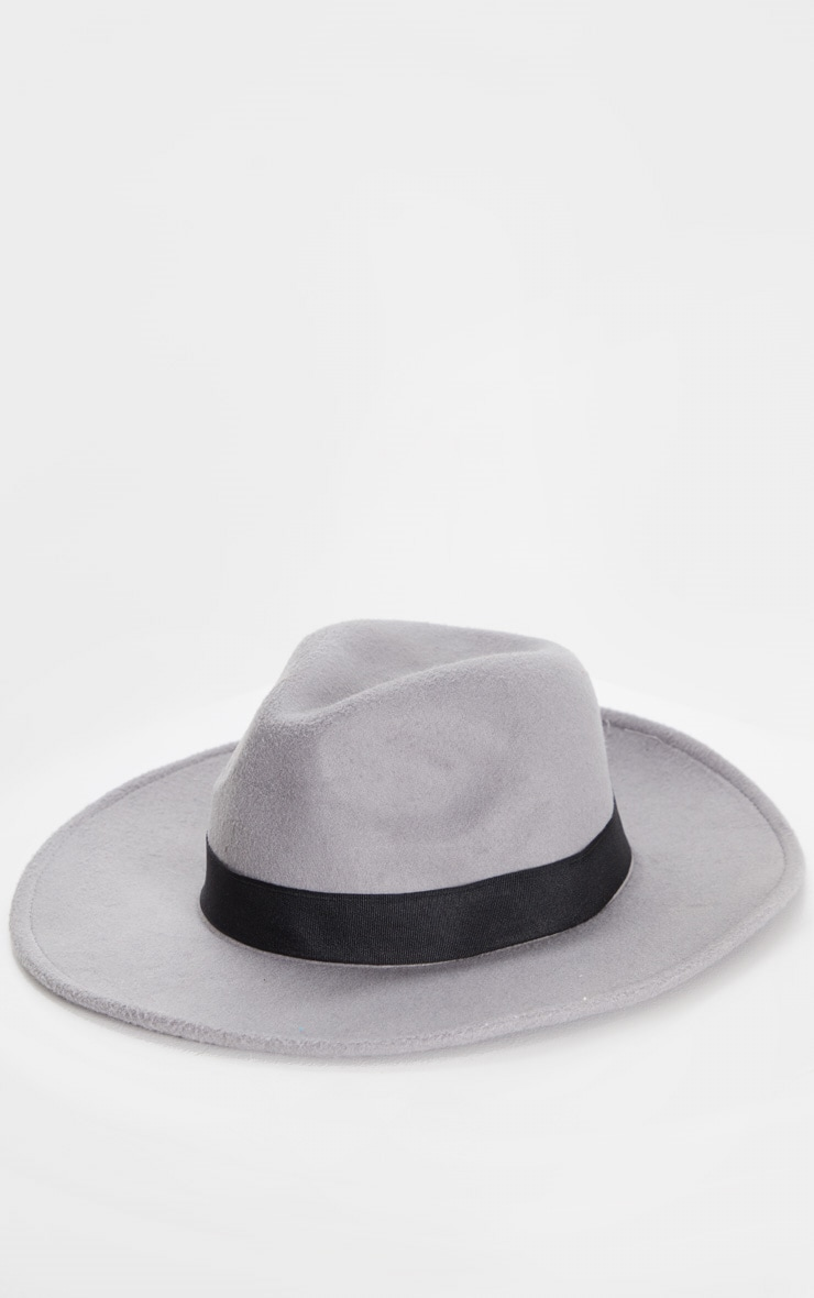 Grey Fedora Hat 2