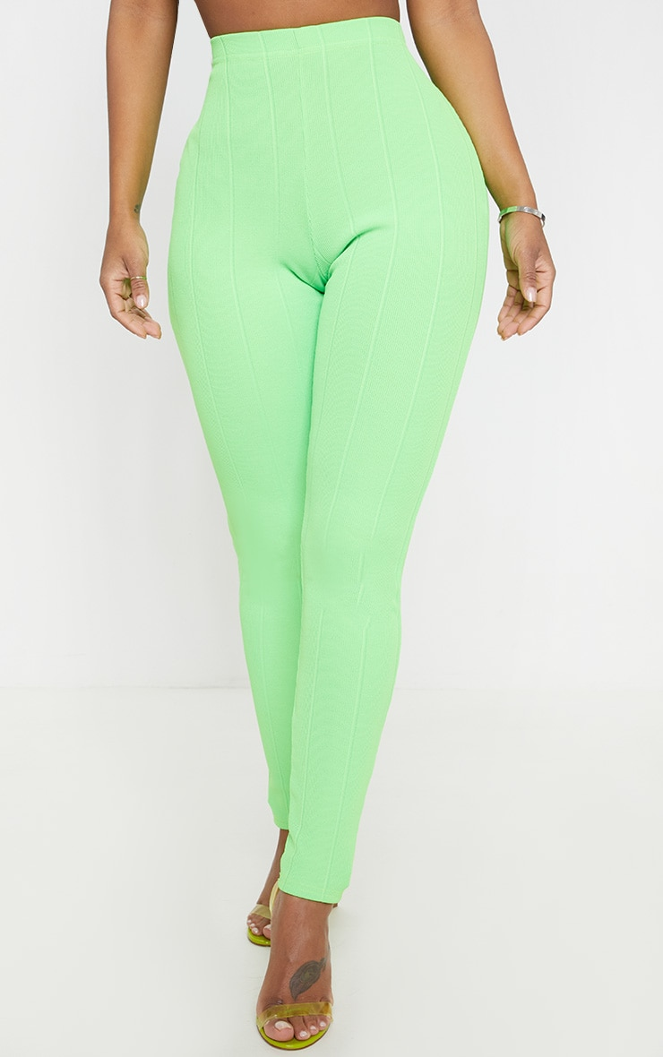 Shape Neon Lime Bandage Legging  2