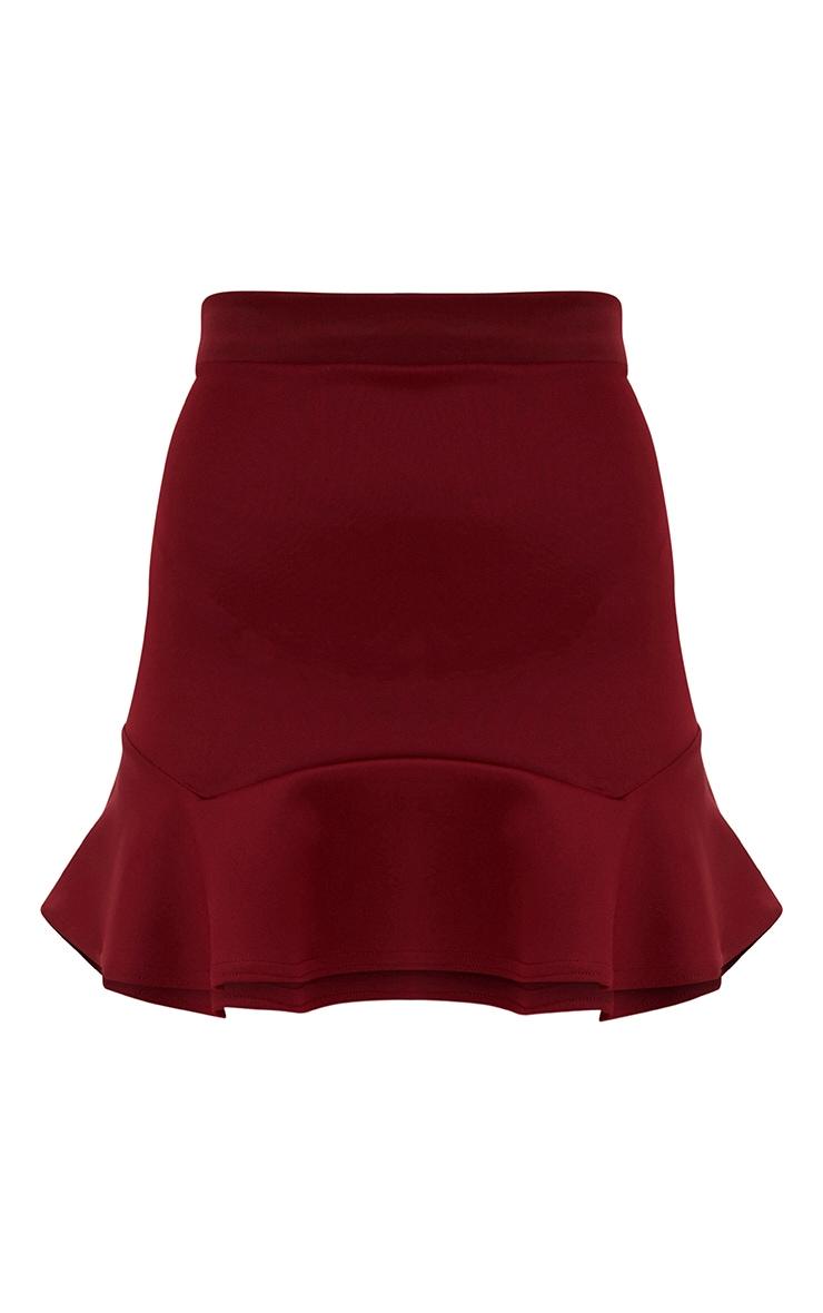 Petite Wine Flippy Hem Skirt 3