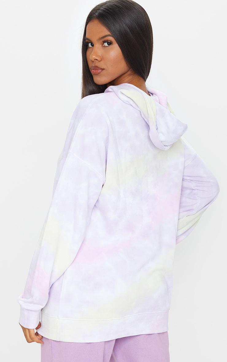 Multi Tie Dye Long Sleeve Oversized Hoodie 2