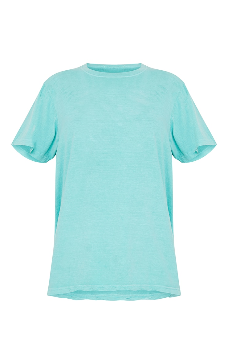 Bright Green Washed Oversized T Shirt 5