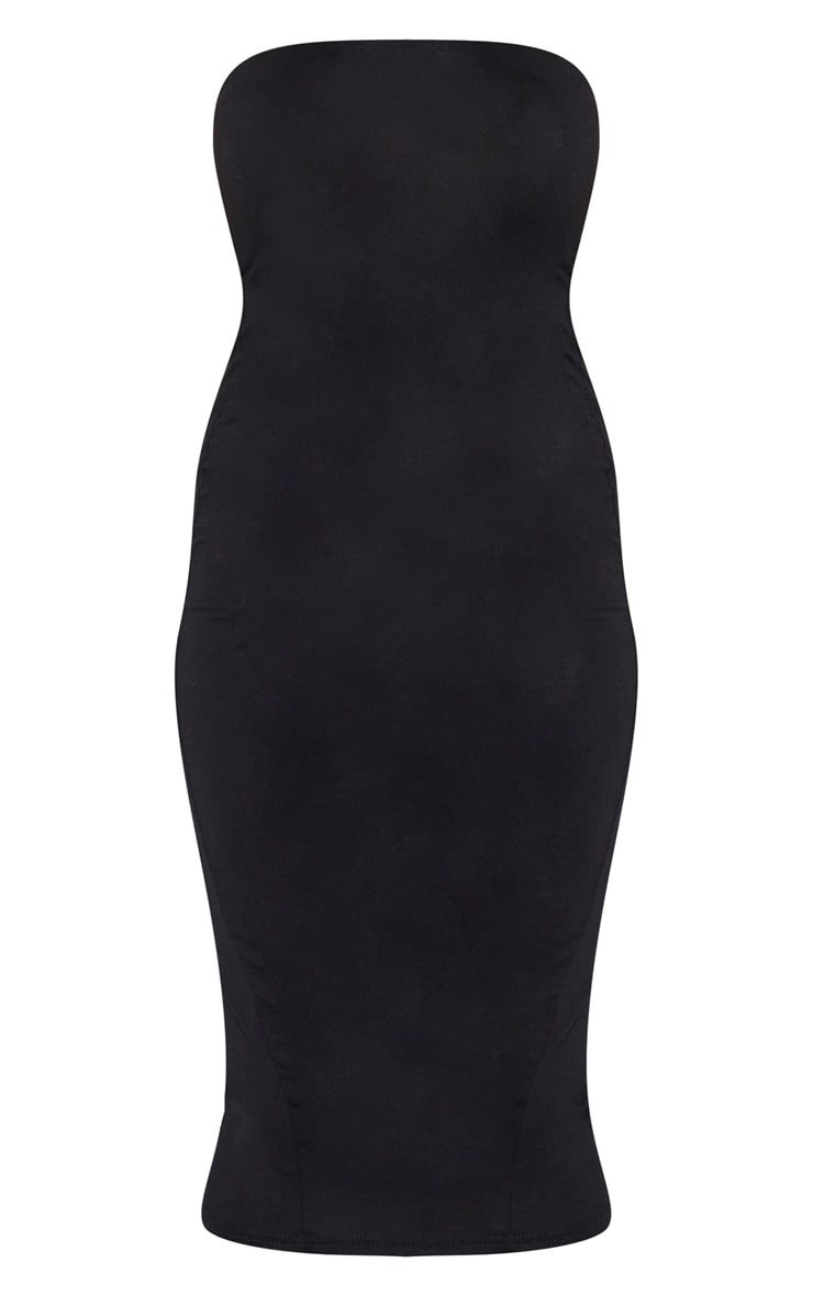 Petite Black Bandeau Jersey Midi Dress 3